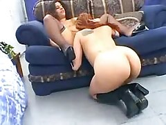 Hot strap on lezzie fuck.Lesbian licking movies!