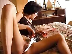 Lesbian Pussy Lonely wifie alone with porno films.Lesbian Pussy Videos!