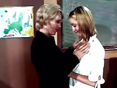 Mature and Girl Hot lezzie get licking from teacher.Lesbian mature sex!