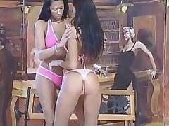 Two pretty lezzies taste each other.Hot Latina Lesbian!