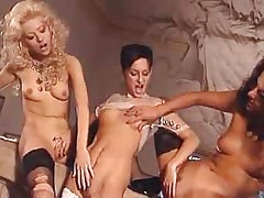 Girl in Threesome Hot lesbo chicks make wild sex orgy.Threesome lesbian porn!