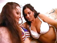 Chicks warm up each other.Hot Latina Lesbian!