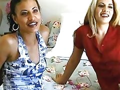 Interracial lesbian Two cute lezzies experiment w toys.Interracial Lesbian Sex!