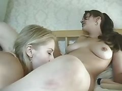 Lesbian Licking Hot lezzies taste each other on bed.Lesbian licking movies!