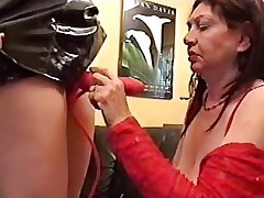 Busty granny lesbian in red sucks huge strapon.Fetish Lesbian Stories.Lesbian Toys sex.Lesbian..