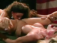 Lesbian Licking Army lesbian licking pussy on floor.Lesbian licking!