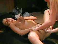 Army blonde licking pussy on floor.Busty Girls.Hot Latina Lesbian!
