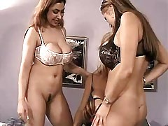Mature and Girl Busty lesbians have fun in groupsex.Lesbian mature..
