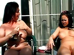 Mature and Girl Mature lesbian licking fresh pussy.Busty Girls.BBW..