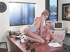 Lesbian secretary licks out beauty.Slip nipple!