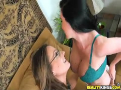 Wild and sweaty lesbian mommy sex.Hot milf sex!