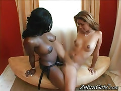 Girl tortured by interracial lesbian mistress