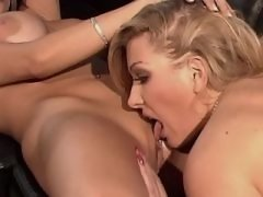 Lesbians with perky tits making sex