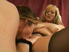 Mature woman love to eat young pussy
