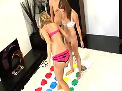 Chastity, Kara and Mae get together to play a game of 'strip twister.' The clear winner? The rest..