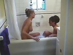 Hot lezzies in bathroom!