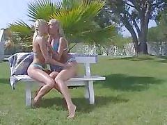 Lesbians make cool sex.Girl kissing girl!