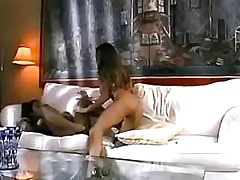 Chick gets oral dildoing.Interracial Lesbian Sex!