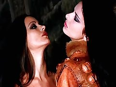 Beautiful lesbo lady caresses cute chick in furs.Girl kissing girl.Fetish Lesbian Stories!