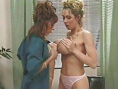 Busty mature lesbians lick each other on table.Lesbian milf sex.Slip nipple!