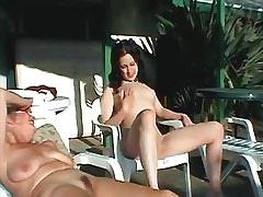 Brunette lesbian caress old pussy.Lesbian mature sex.Lesbian Mature ang Girl!