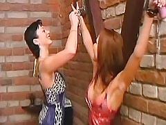 Lesbian babes play with handcuffs.Fetish Lesbian Stories.Lesbian milf sex!